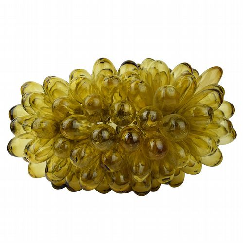Recycled Glass Grape Lamp - Large - Amber